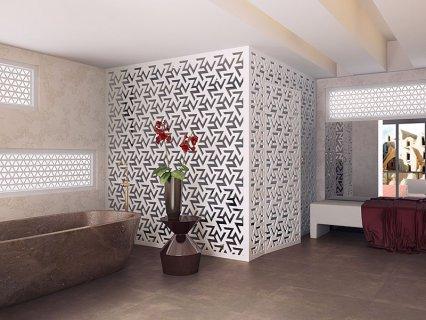 Декоративная стена перегородка
